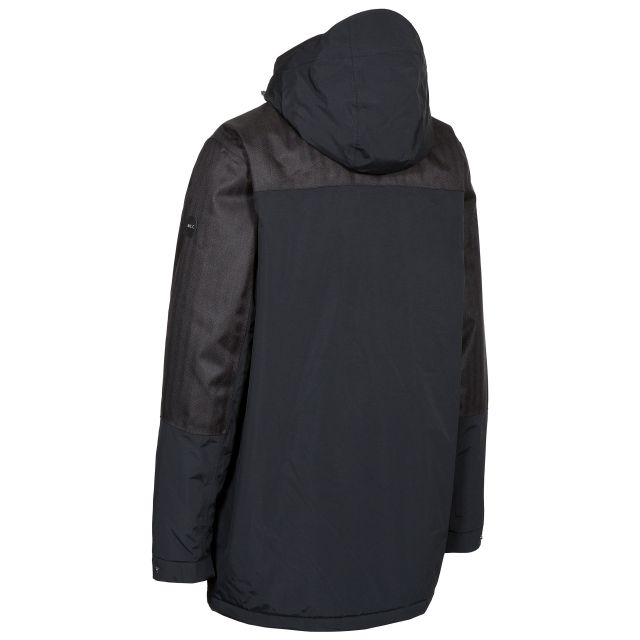 Larken Mens Taped Seamed Waterproof Jacket in Black