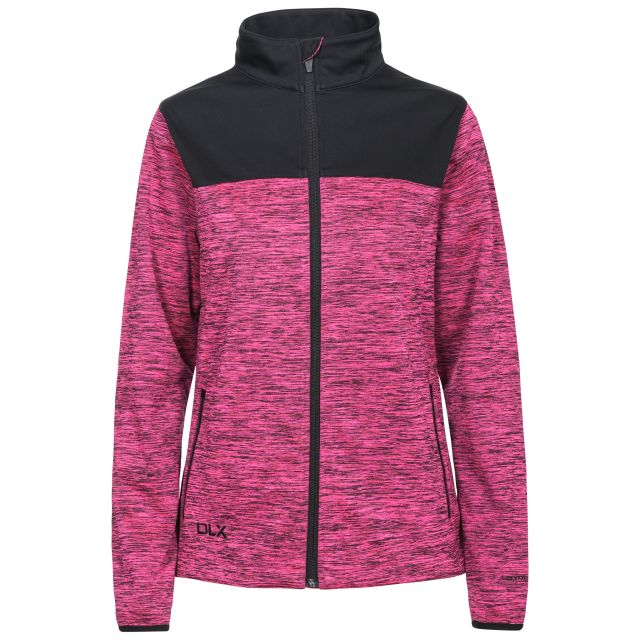 Laverne Women's Water Resistant Breathable Softshell Jacket in Pink