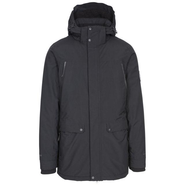 Harris Mens Padded Sherpa Fleece Lined Waterproof Jacket in Black