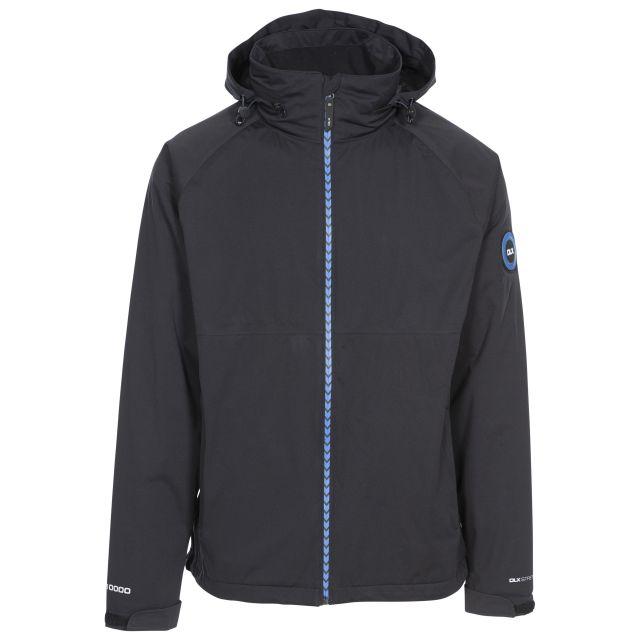 Kyle Mens Waterproof Hooded Jacket in Black