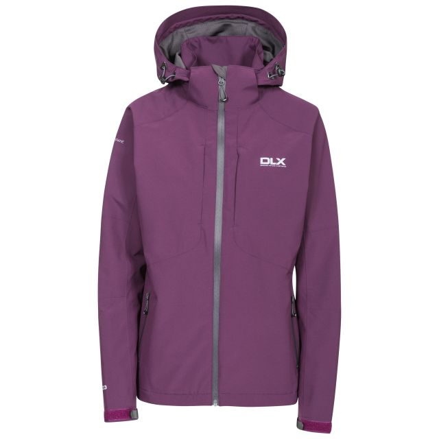 Martina Womens Waterproof Jacket in Burgundy