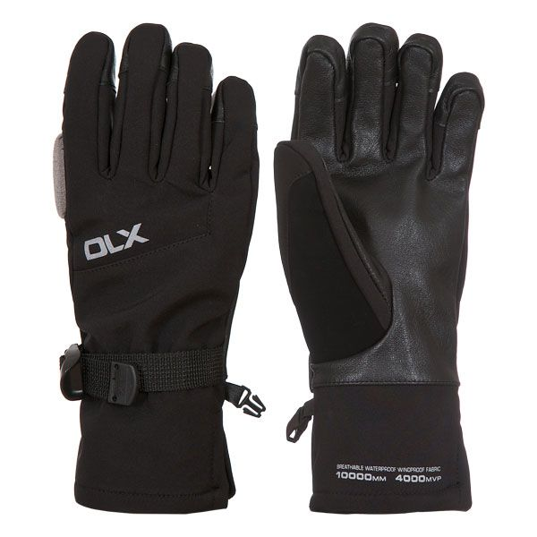 Misaki II Adults Black Waterproof Ski Gloves in Black