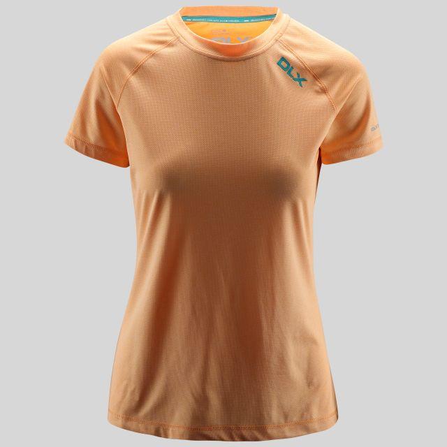Monnae Womens Round Neck Active T-Shirt in Orange