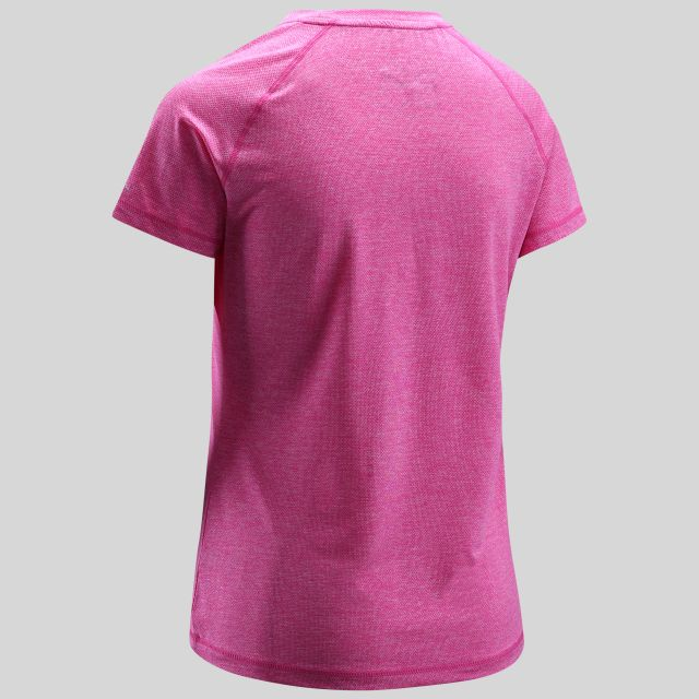 Monnae Womens Round Neck Active T-Shirt in Pink