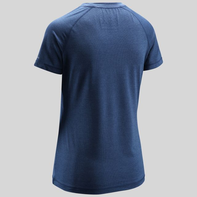 Monnae Womens Round Neck Active T-Shirt in Navy