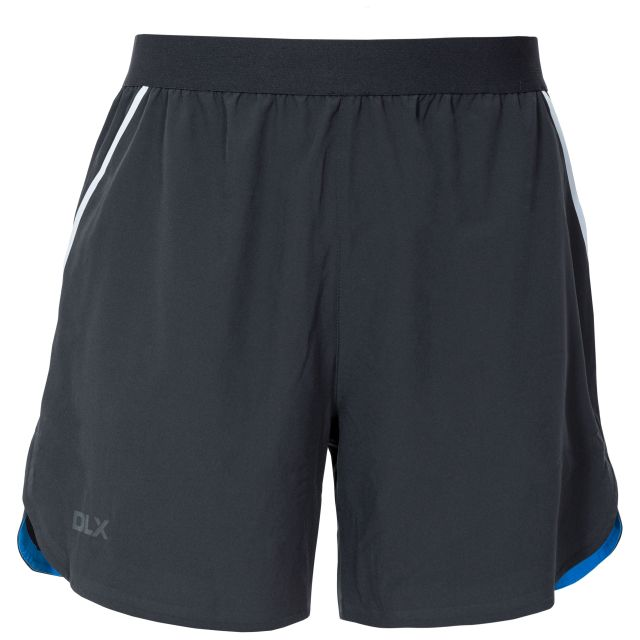 Motions Mens Active Shorts in Black, Front view on mannequin