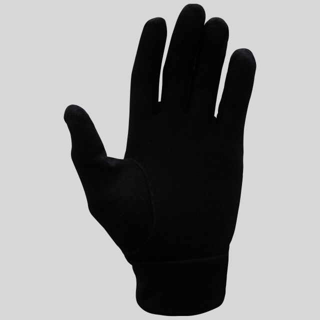 Naoki Adults Black Merino Wool Gloves in Black