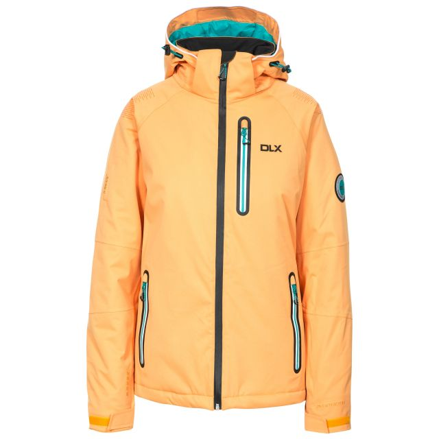 Nicolette Womens Waterproof Ski Jacket in Orange