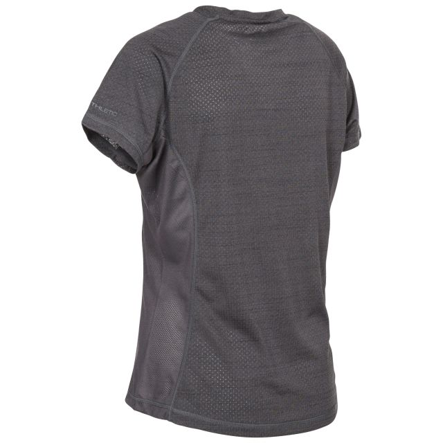Oracle Womens Round Neck Active T-shirt in Grey