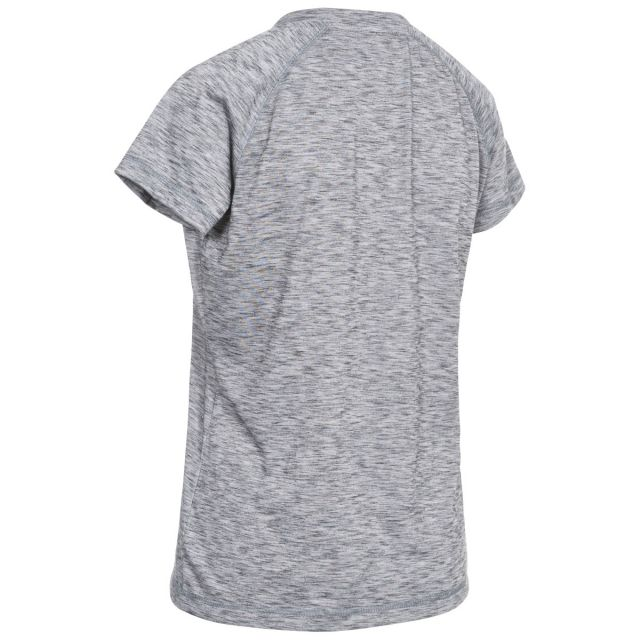 Relays Womens Round Neck Active T-Shirt in Light-Grey