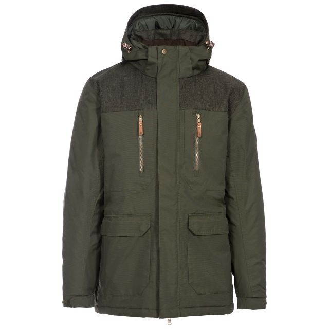 Rockwell Mens Waterproof Jacket in Khaki