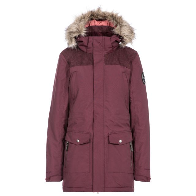 Rosario Womens Waterproof Casual Parka Jacket in Purple