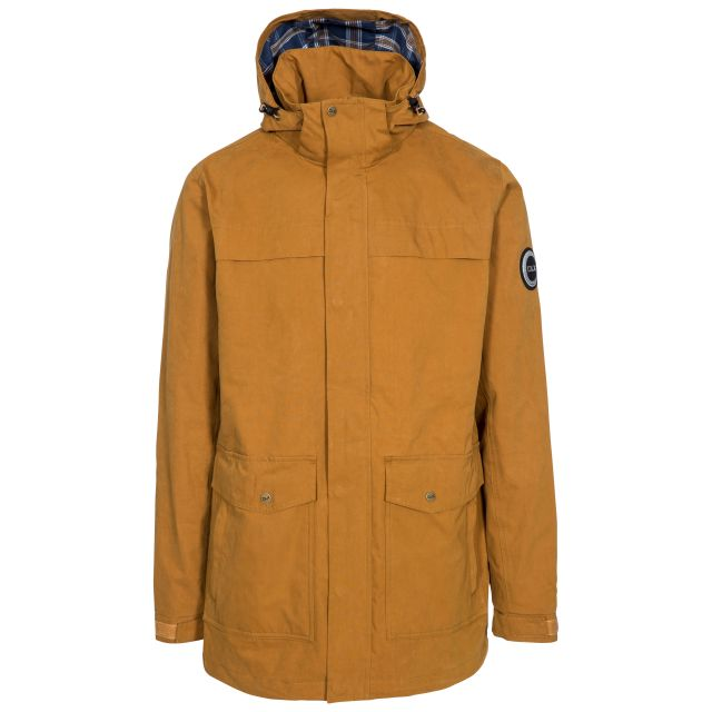 Rowland Mens Casual Waterproof Jacket in Yellow