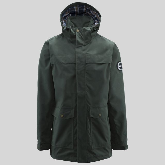 Rowland Mens Casual Waterproof Jacket in Khaki
