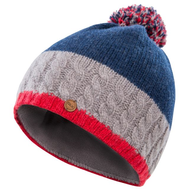 Sheeran Adults Wool Knitted Beanie Hat in Navy