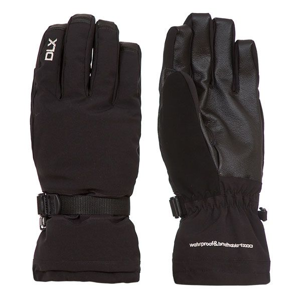 Spectre Adults Black Waterproof Ski Gloves in Black