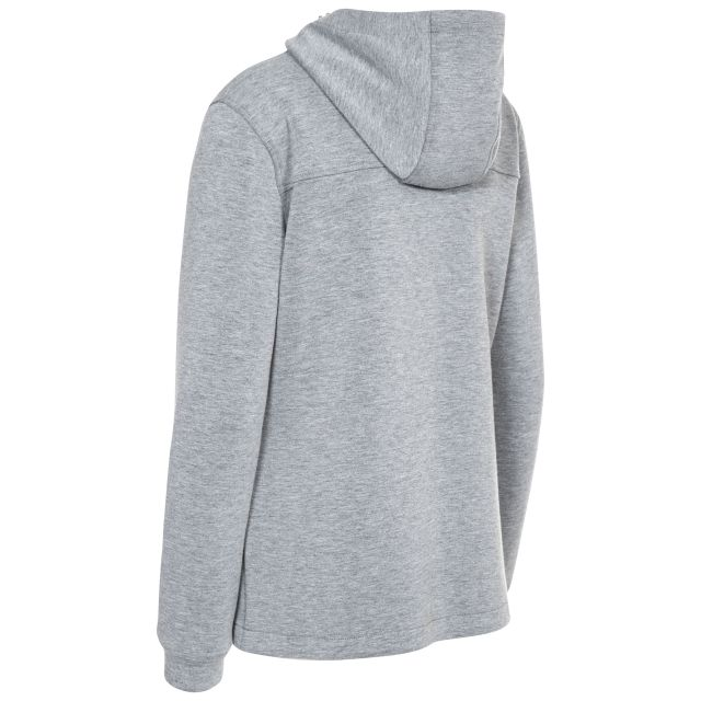 Tauri Womens Hooded Sweatshirt in Light-Grey