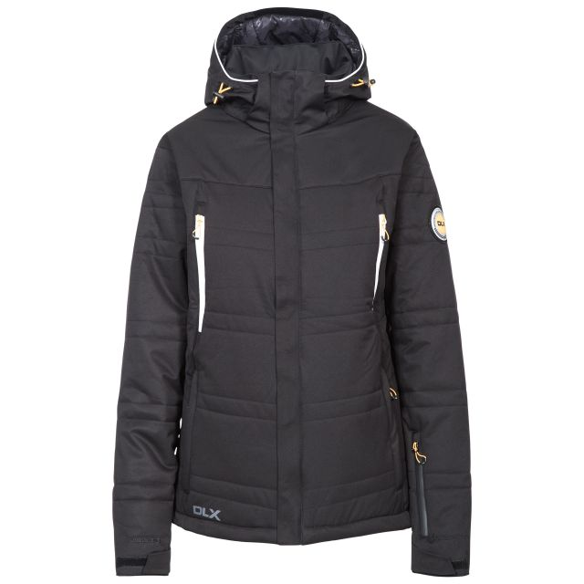 Thandie Womens Insulated Waterproof Ski Jacket in Black
