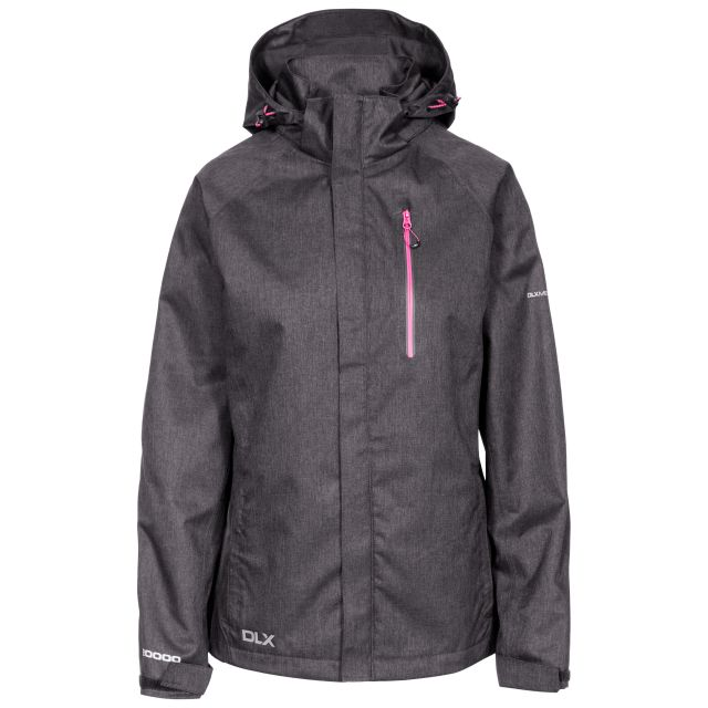 Tiya Womens Breathable Waterproof Jacket in Black