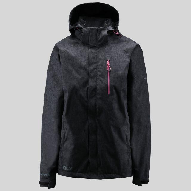 Tiya Womens Breathable Waterproof Jacket in Black