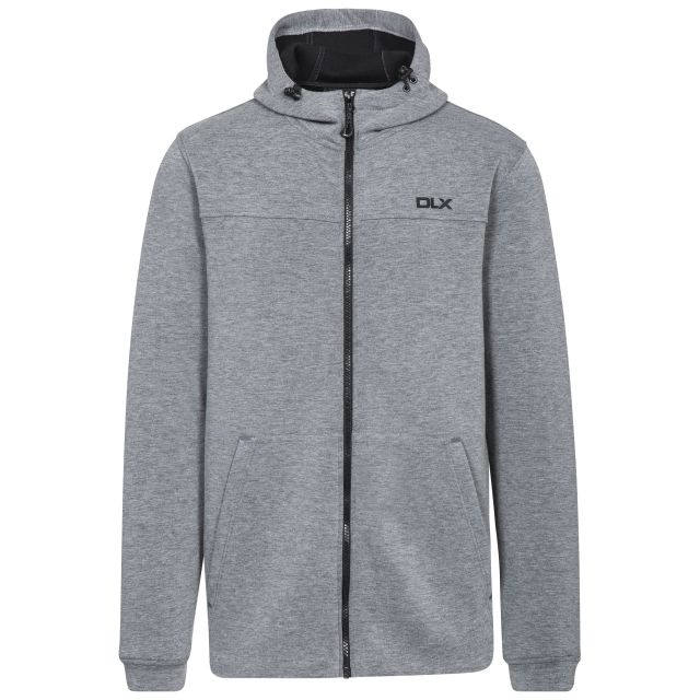 Vega Mens Grey Hooded Zipper in Light-Grey