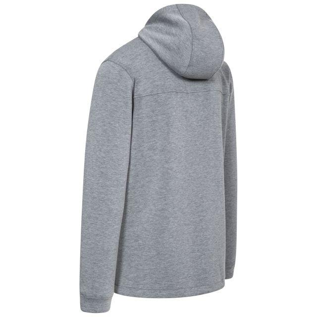 Vega Mens Grey Hooded Zipper in Light-Grey