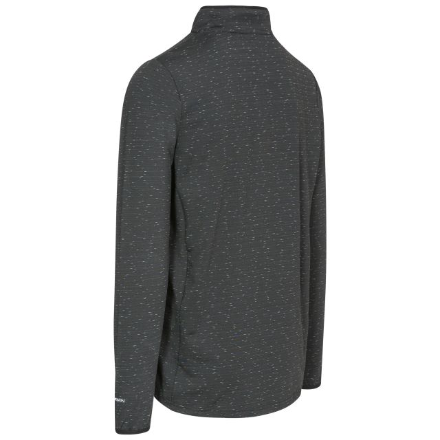 Wilks Mens Long Sleeved 1/4 Zip Pullover Fleece in Black